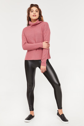 Ardene Faux Leather Front Leggings