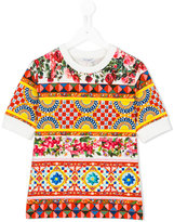 Dolce & Gabbana Mambo print T-shirt - kids - Cotton/Spandex/Elastane - 4 yrs