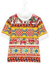 Dolce & Gabbana Mambo print T-shirt - kids - Cotton/Spandex/Elastane - 6 yrs