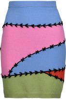 Moschino Embroidered Wool And Cashmere-Blend Mini Skirt