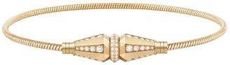Boucheron 18kt yellow gold Jack de single wrap diamond bracelet