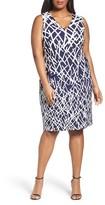 Adrianna Papell Plus Size Women's Print Sheath Dress