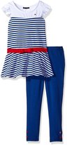 Tommy Hilfiger Little Girls' Toddler 2 Piece Knit Legging and Tunic Set