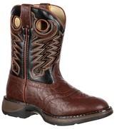 Durango Boys' Lil' Saddle Cowboy Boots - Chestnut & Black