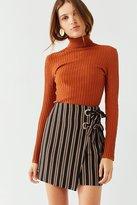 Urban Outfitters Grommet-Tie Wrap Mini Skirt