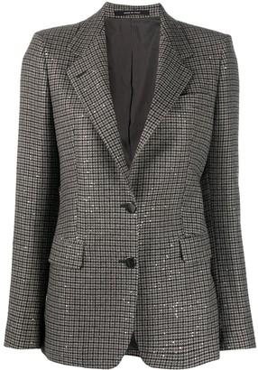 Tagliatore Long-Sleeved Check Pattern Blazer