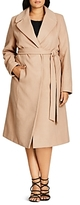 City Chic Longline Wrap Coat