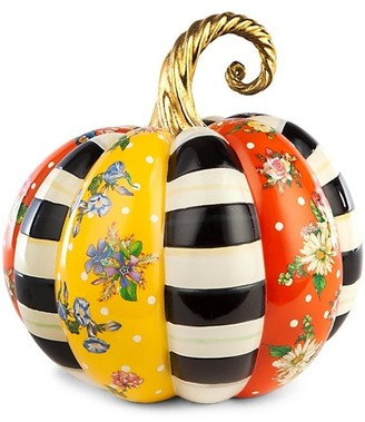 Mackenzie Childs Medium Flower Market Patchwork Pumpkin