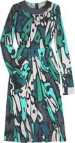 Printed silk jersey dress