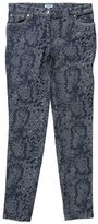 Kenzo Grey Cotton Animalier Print Jeans