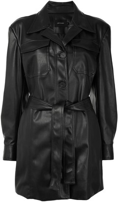 Low Classic Faux Leather Jacket
