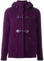 Bark fur hood jacket - women - Wool/Polyamide - XL