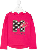 Little Marc Jacobs logo embroidered sweatshirt