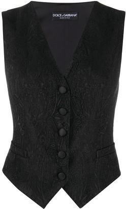 Dolce & Gabbana Jacquard Button-Up Waistcoat