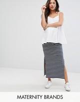 Mama Licious Mama.licious Mama.Licious Striped Maxi Tube Skirt