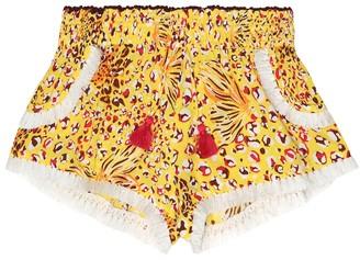Poupette St Barth Kids Lulu printed georgette shorts