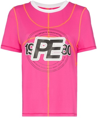 P.E Nation double dribble logo T-shirt