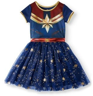 Captain Marvel Girls 4-18 & Plus Cosplay Tutu Tulle Dress