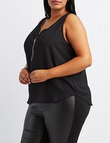 Charlotte Russe Plus Size Zip-Front Tank Top