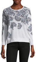 Style And Co. Petite Floral Raglan-Sleeve Sweatshirt