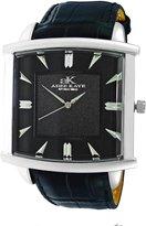 Adee Kaye Men's Adore Ii-3g 44mm Leather Band Swiss Quartz Watch Ak2220-Mbk