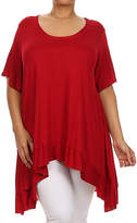 Canari Red Hi-Low Tunic - Plus