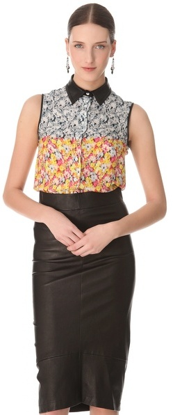 Yigal Azrouel Floral Top