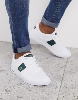Lacoste europa sneakers with green stripe