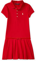 Ralph Lauren Velvet Bow Stretch Polo Dress