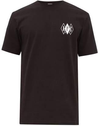 A.P.C. Logo Print Cotton T Shirt - Mens - Black