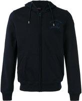 Paul & Shark logo print zipped hoodie - men - Cotton - L