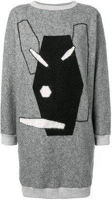 Julien David embroidered sweater dress