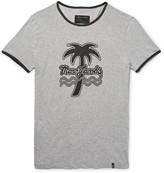 Marc Jacobs - Slim-fit Printed Mélange Cotton-jersey T-shirt