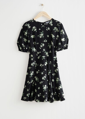 And other stories Puff Sleeve Mini Dress