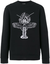Lanvin winged lobster sweatshirt - men - Cotton/Polyamide/Polyester - XS
