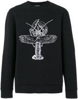 Lanvin winged lobster sweatshirt