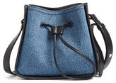 3.1 Phillip Lim Mini Soleil Denim & Leather Bucket Bag - Blue