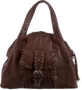 Henry Beguelin Grommet & Woven Leather Purse