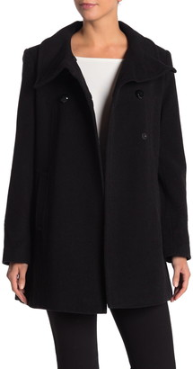 Larry Levine Solid Wool Blend Coat