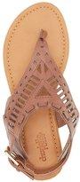 Charlotte Russe Laser Cut Thong Sandals