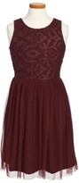 Ruby & Bloom Girl's Sleeveless Lace Dress