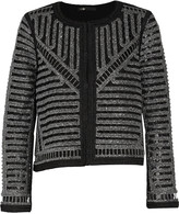Maje Metallic open-knit jacket