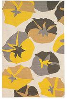 DwellStudio Big Floral 5x8 Rug in Citrine