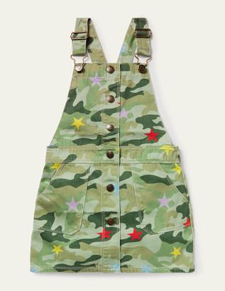 Boden Button Through Overall Dress