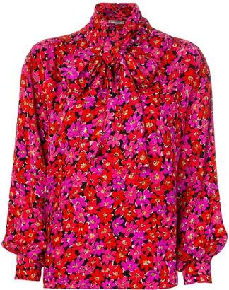 Yves Saint Laurent Pre Owned 1990's Floral Print Blouse