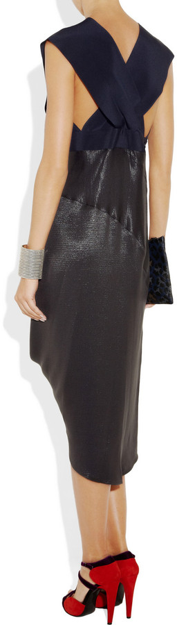 Zero Maria Cornejo Crepe and coated-woven dress
