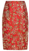 Prada Metallic Cloqué Jacquard Skirt