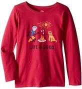 Life is Good Elemental Camp Fire Long Sleeve Tee (Little Kids/Big Kids)