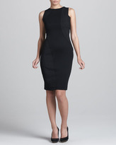 Donna Karan Sleeveless Swirl-Patchwork Dress