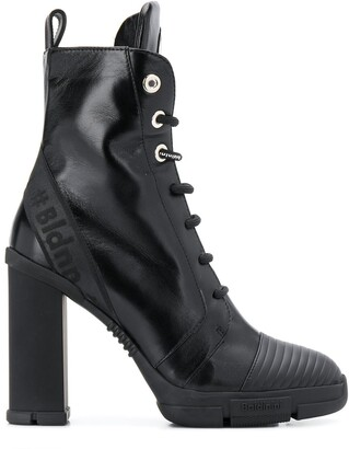 Baldinini Lace-Up High Heel Boots